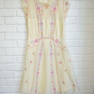 Free People Riviera Embroidered Mini Dress